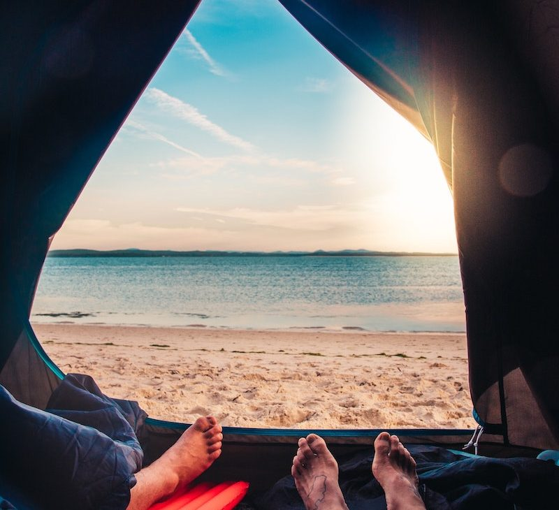 camping tente plage